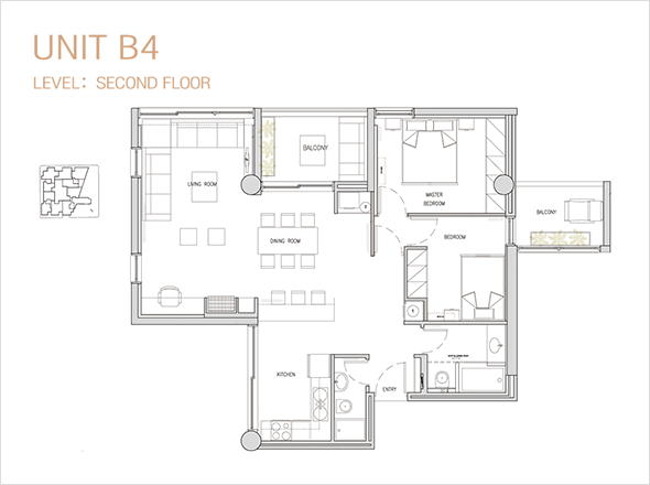 UNIT A1. LEVEL: FIRST FLOOR